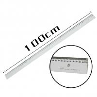 得力(deli) 8200-100cm透明有机直尺