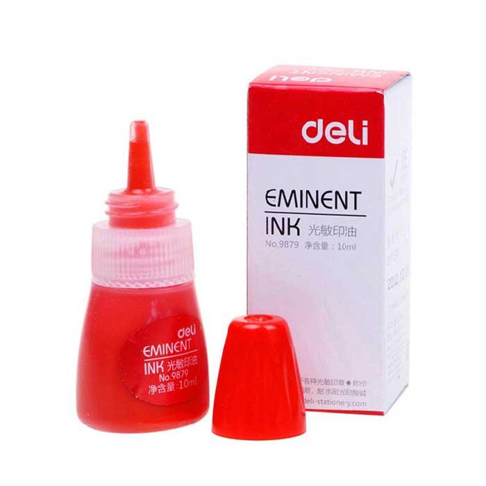 得力(deli) 9879 红色光敏印油 10ml