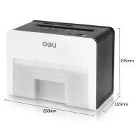 得力(deli) 9931 桌面型碎纸机 精致小巧可碎卡S4级保密 2.5升 (白色)