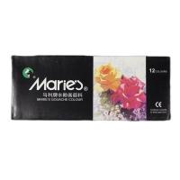 马利(Maries) 7312 12色水粉颜料 美术专用画材