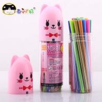 西瓜太郎 24色宠物瓶水性彩色笔 画笔
