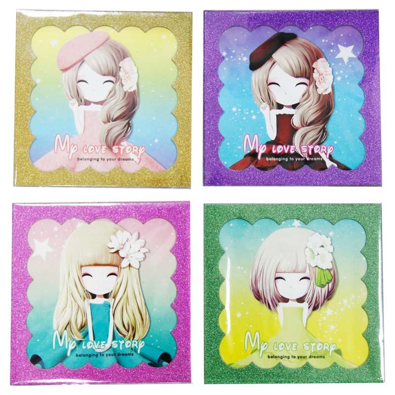 得力高(DELIGAO) JM-0430-A 金葱花花姑娘手工折纸 卡纸 75张 15*15cm