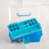 虹影(HONGYING) HB-555 透明塑料双层手提美术多功能画画工具箱 保护收纳储物箱