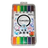 真彩·乐美(TrueColor) WM2128-12学生绘画双头可洗水彩笔 12...