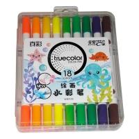 真彩·乐美(TrueColor) WM2128-18学生绘画双头可洗水彩笔 18...