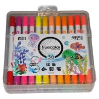 真彩·乐美(TrueColor) WM2128-36学生绘画双头可洗水彩笔 36...