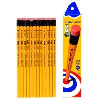 马可(MARCO) 4200E HB-12支装黄色皮头高级书写铅笔