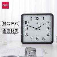 得力(deli) DL8824 电子时钟 挂钟 客厅钟表 38x36cm (黑色)