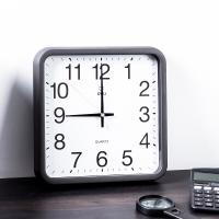 得力(deli) DL8832 电子时钟 挂钟 客厅钟表 30x30cm (黑色)